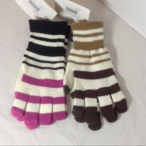 Two pair women's stretch gloves
